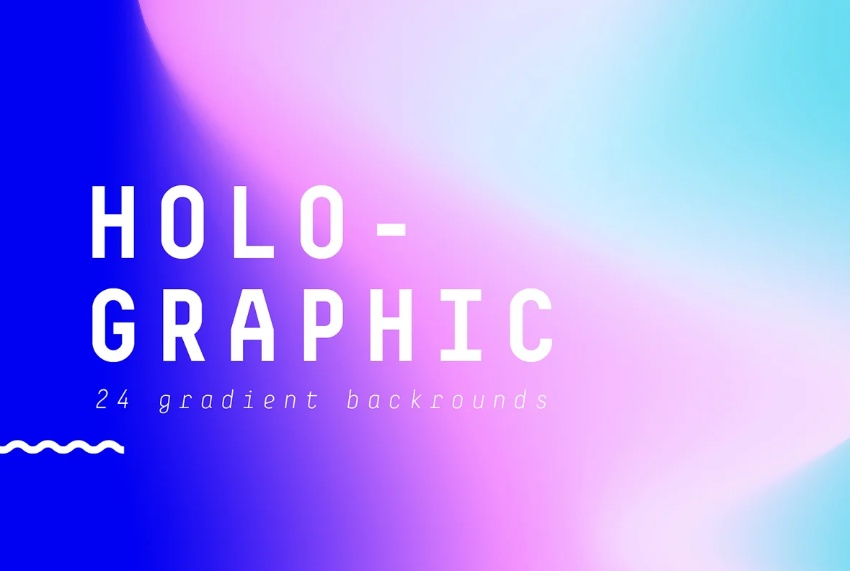 Creative Holographic Gradient Backgrounds