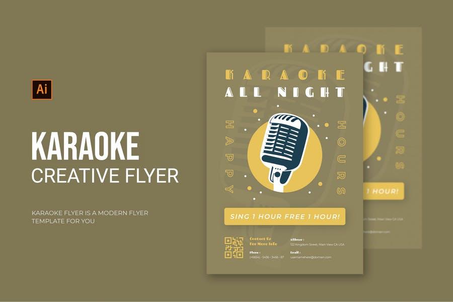 Creative Karaoke Night Flyer