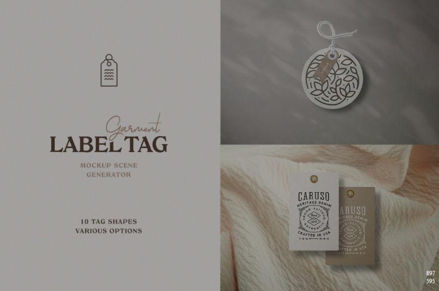 Creative Label Tag Mockups
