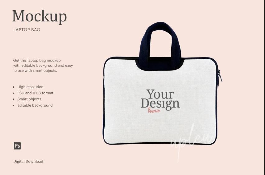 Creative Laptop Bag Mockup PSD