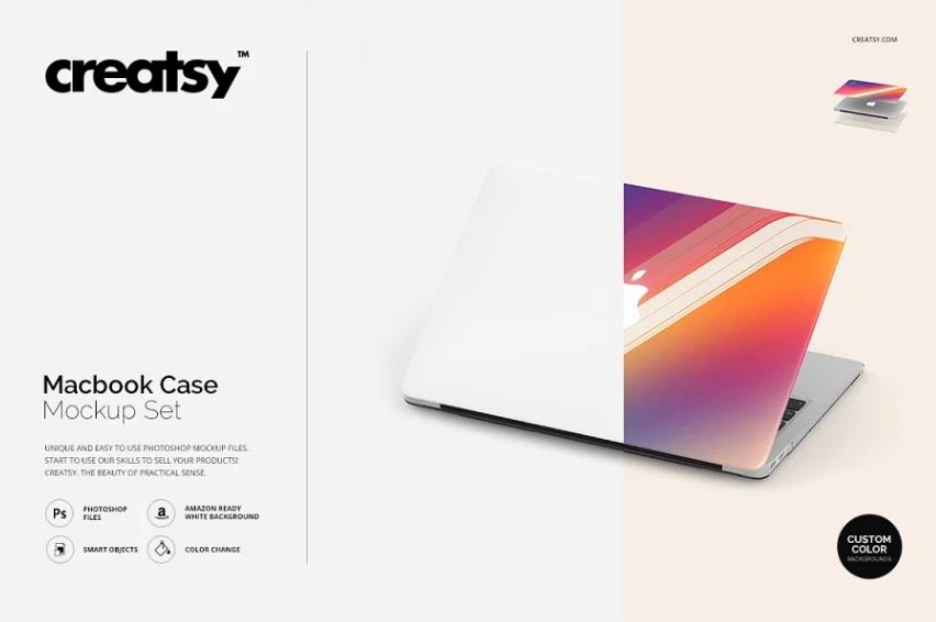 Creative MacBook Case Mockup