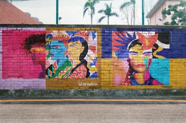 Creative Mural Street Mockup PSD