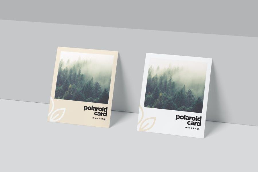 Creative Polaroid Card Mockup