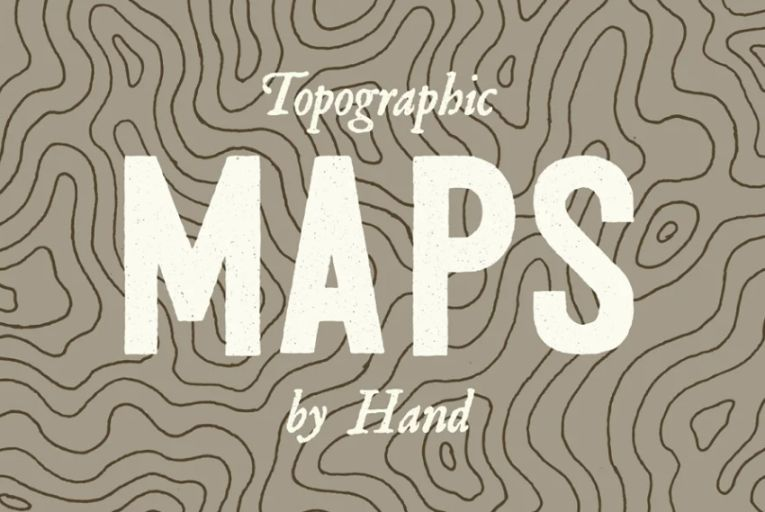 Creative Topographic Map Backgrounds