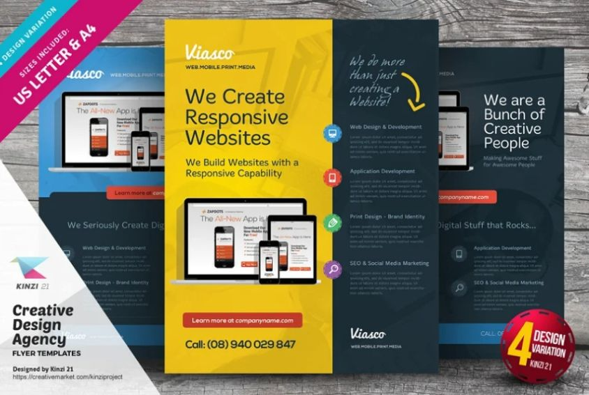 21+ Free Web Design Flyer Template Design Download