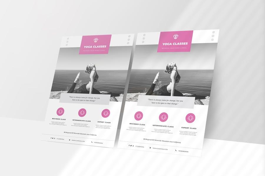 Creative Yoga Flyer Design