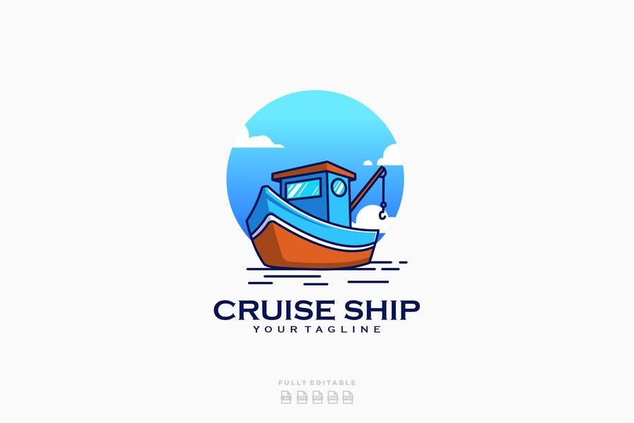 Cruise Ship Logo Designs