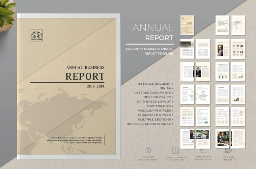 Customizable Annual Report Brochure Design