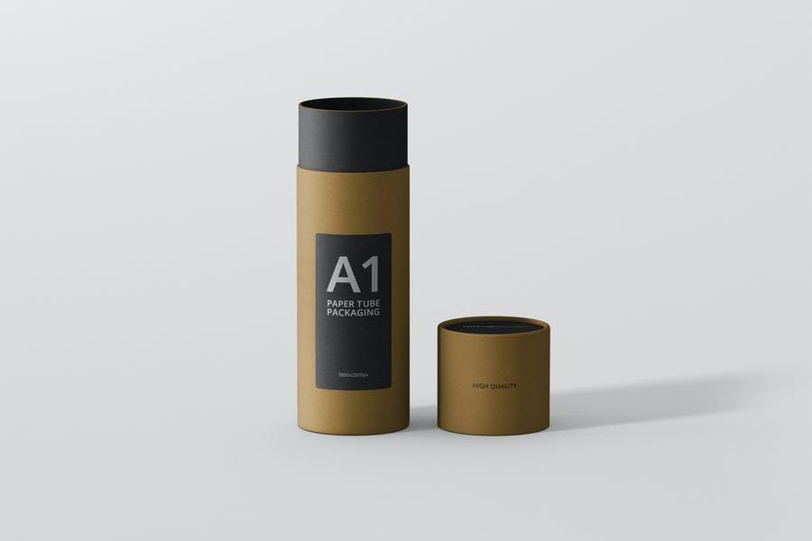 Customizable Paper Packaging Mockup