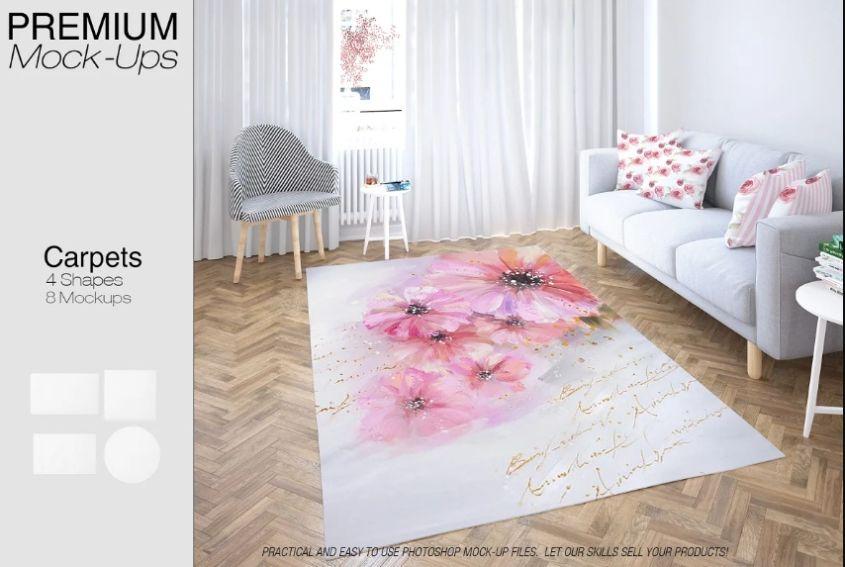 Customizable Room Mockup PSD