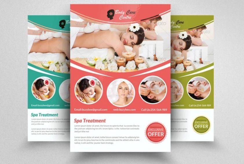 Customizable Spa Ad Poster Design