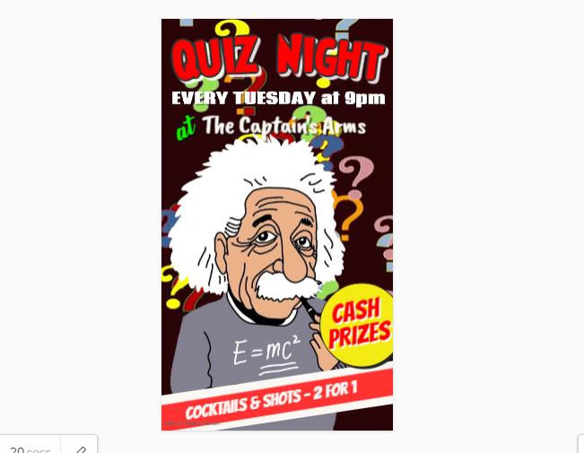 Customizable Trivia Night Flyer