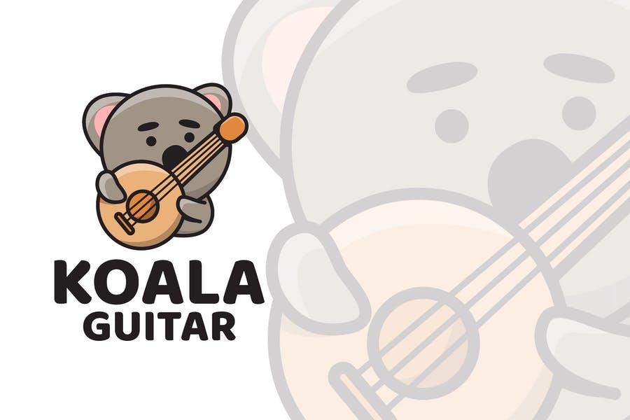 Cute Guitar Logo Templates
