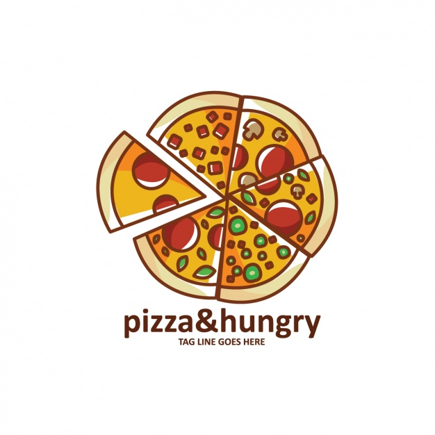 Cute Pizza Logo Design