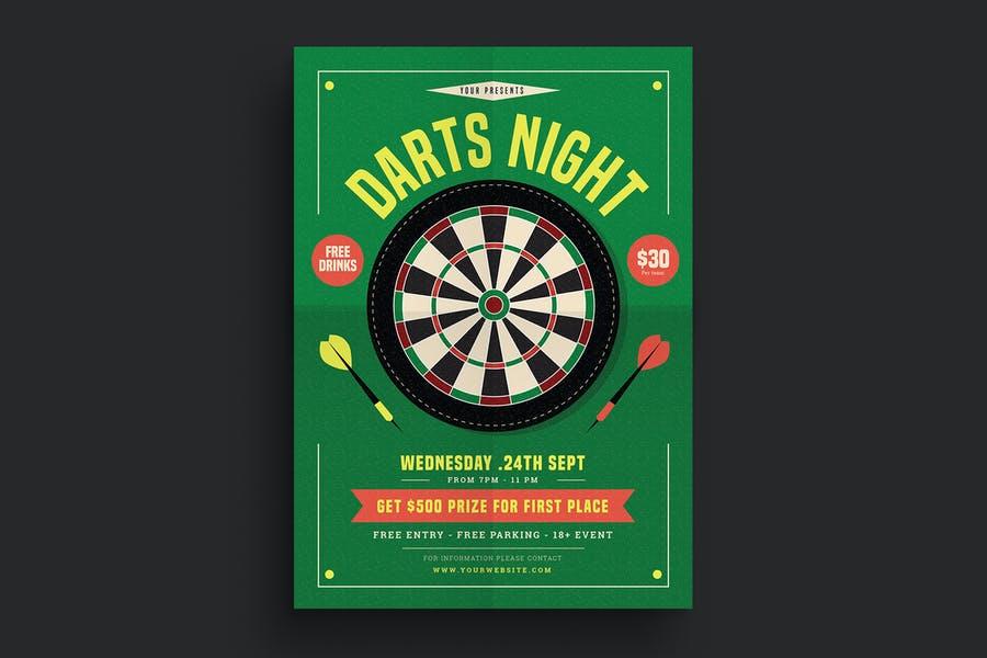 Darts Night Flyer Design