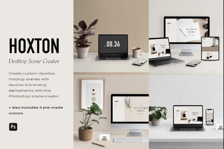 Desktop Mockup Scene Generator