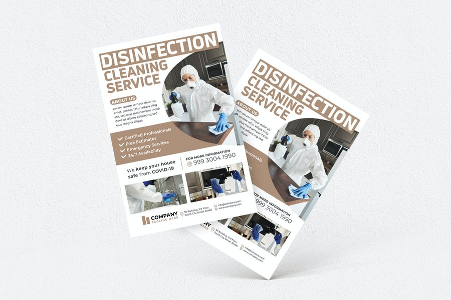 Disinfection Flyer Template