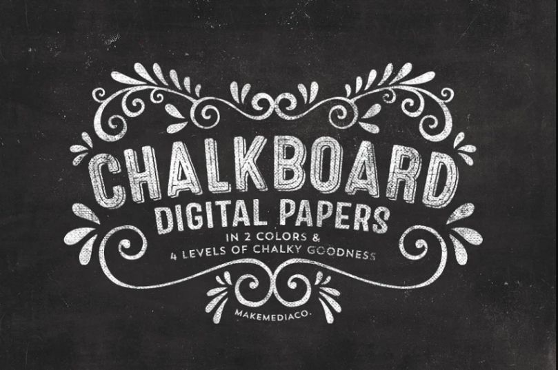 Distressed Chalkboard Paper Textures