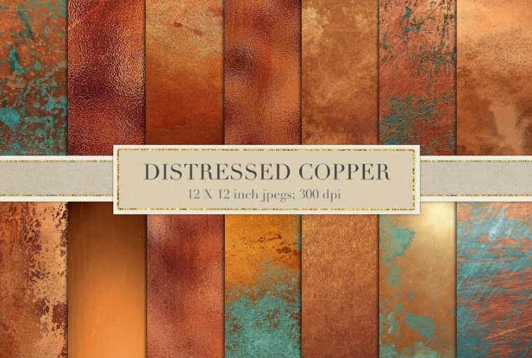 Distressed Copper Backgrounds