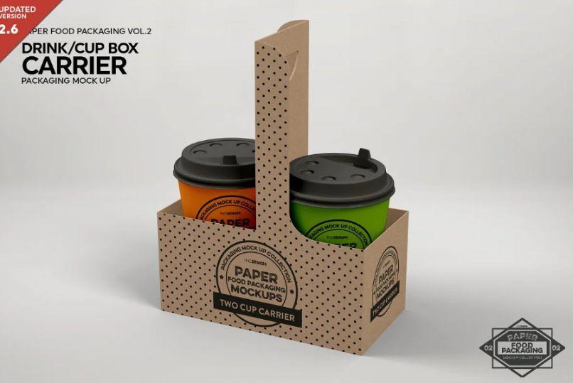 Drinks Cup Carrier Packaging mockup
