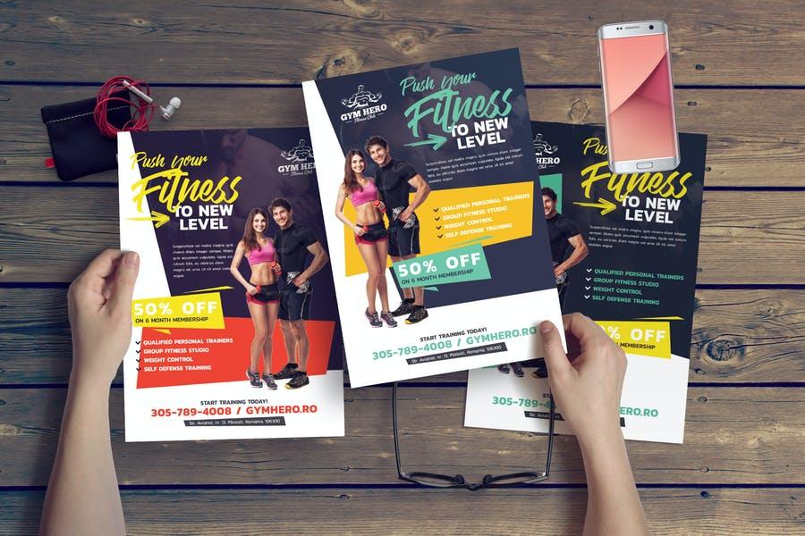 Easy Editable Gym Promotional Templates