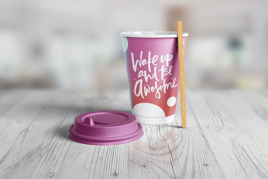 Easy Editable Paper Cup Mockup