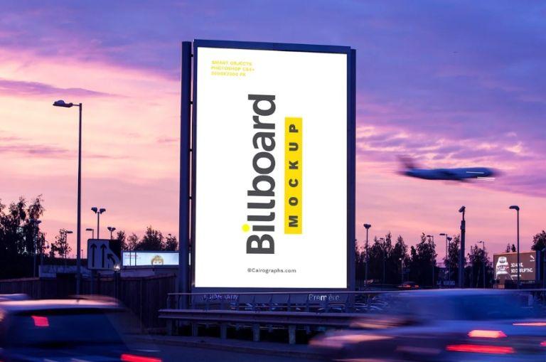Editable Advertising Mockup PSD