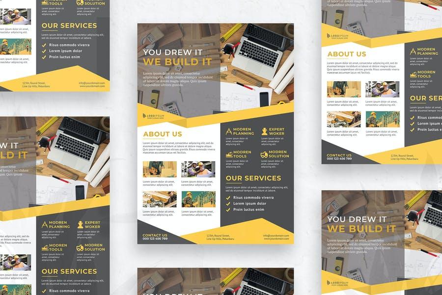 Editable Construction Flyer