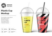 Drinks cup mockup