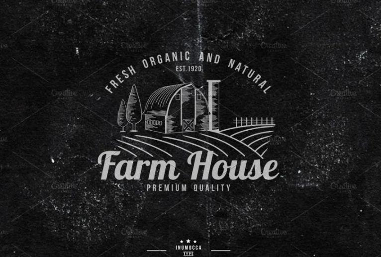 Editable Farm House Logo Templates
