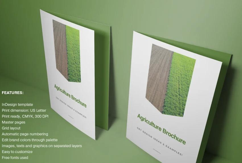 Editable Farming Brochure Design