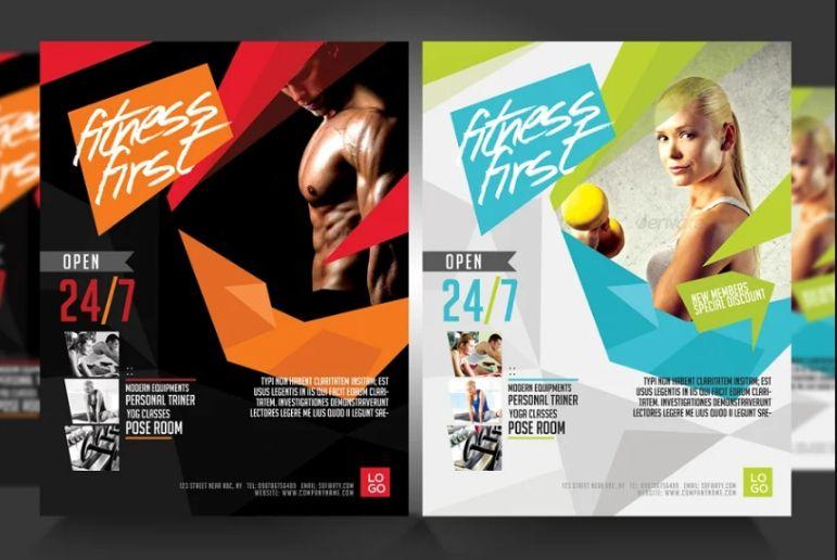 Editable Fitness Promotional Flyer