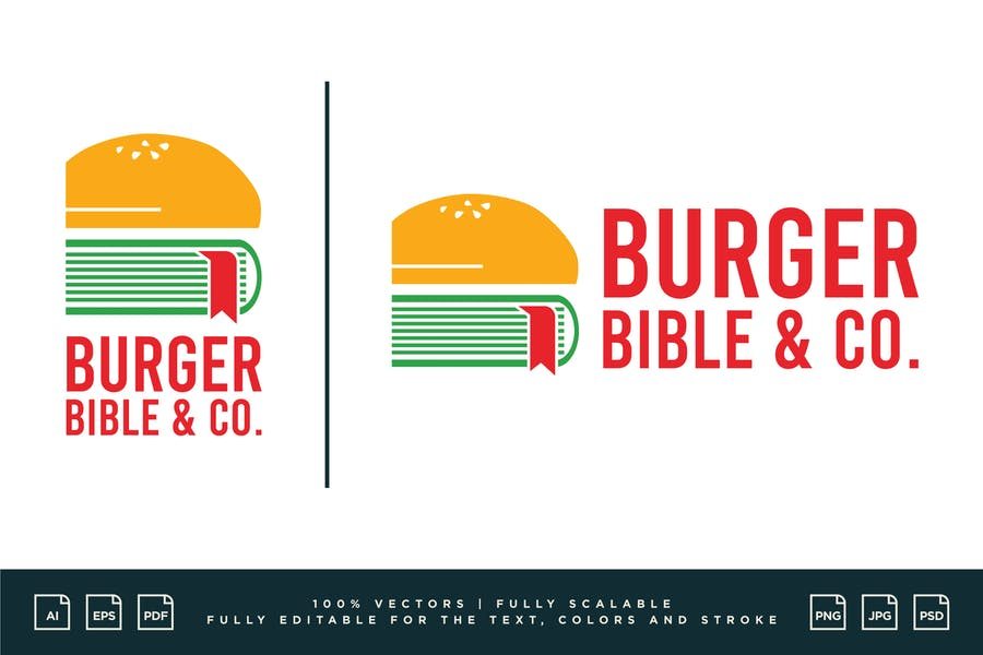 Editable Food Logotype Template
