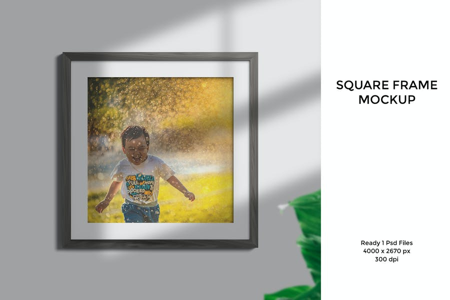 Editable Frame Mockup PSD