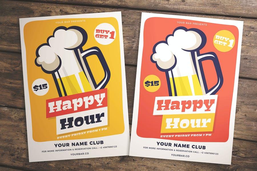 Editable Happy Hour Flyer Design