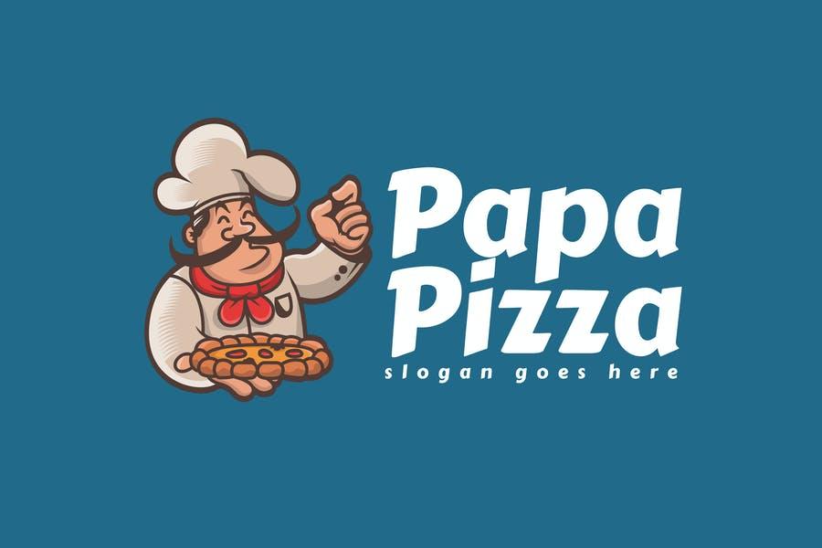 Editable Pizza Logotype Design