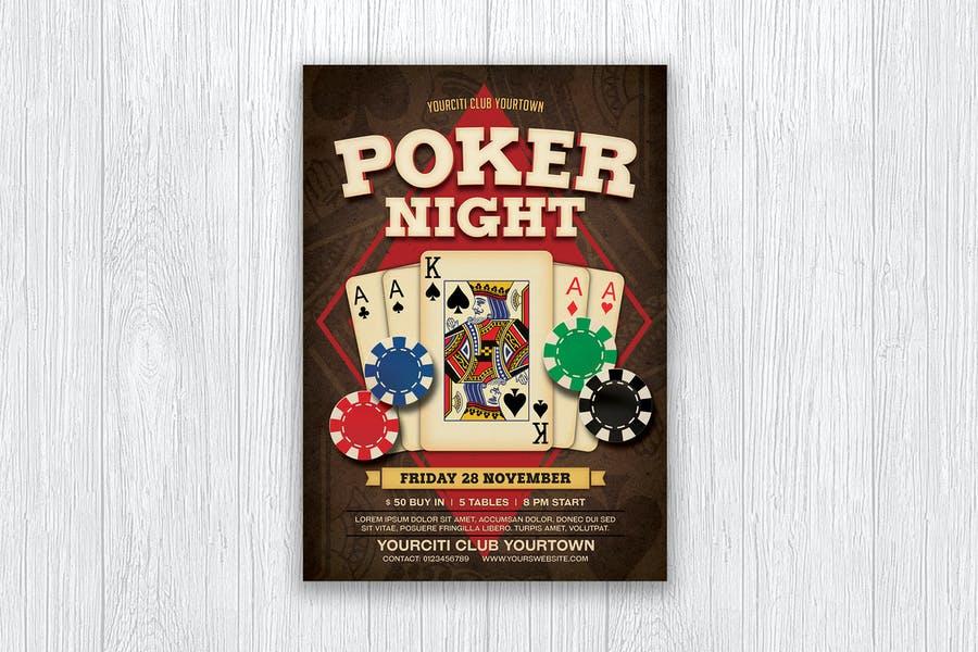 Editable Poker Night Flyer