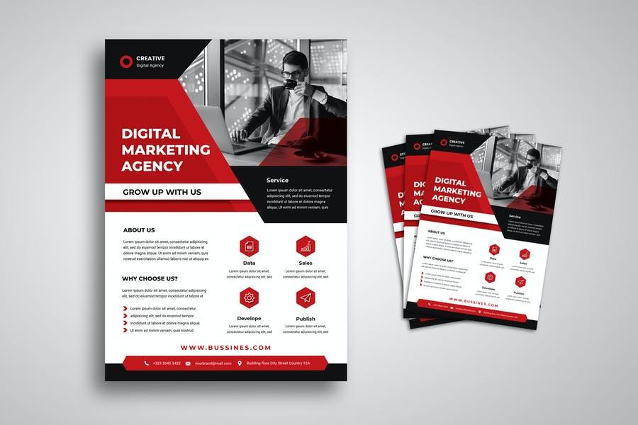Editable SEO Agency Flyer