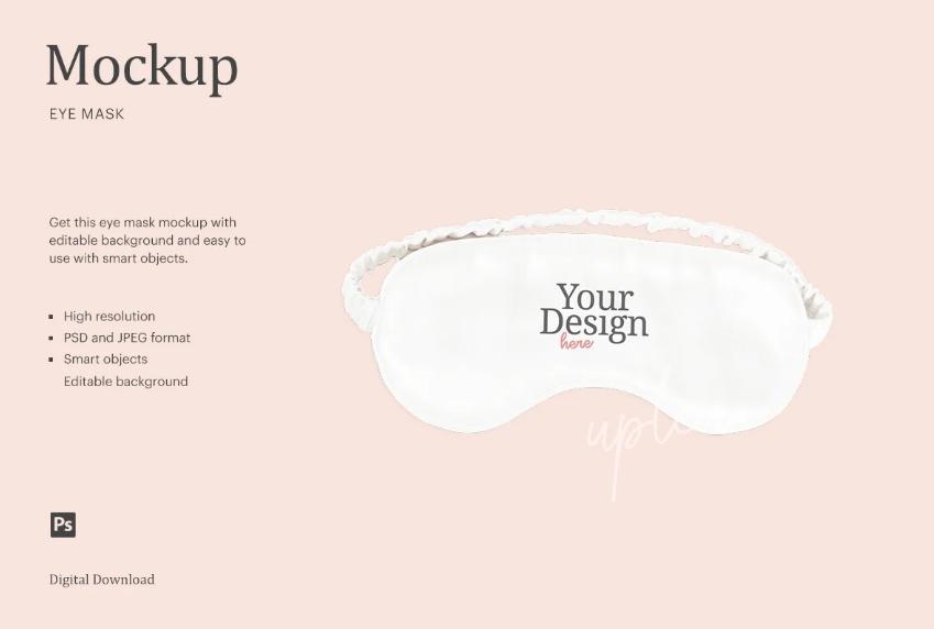 Editable Sleep Eye Mask Mockup