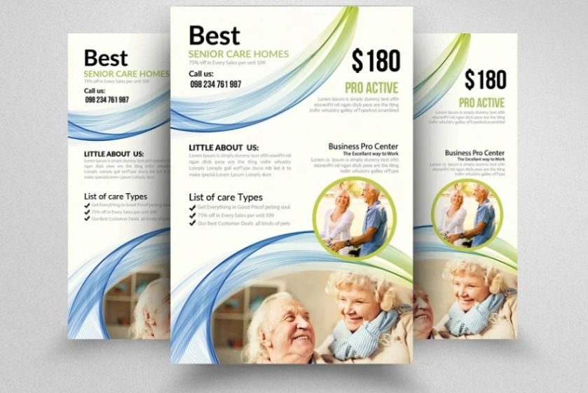 Elderly care Flyer Template