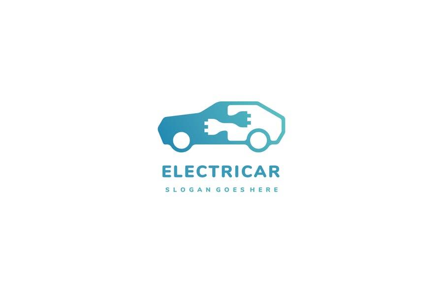 Electric Car Logo Identity