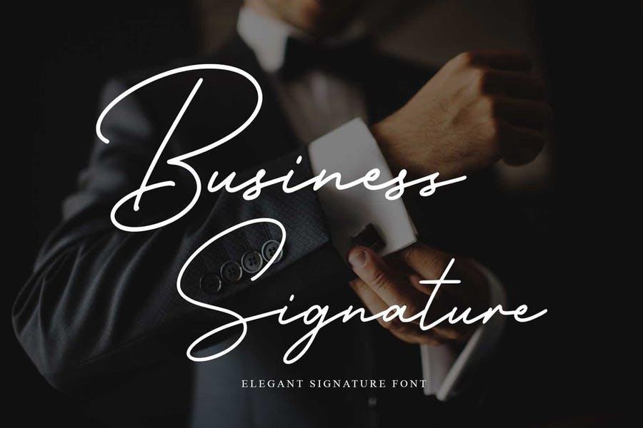 Elegant Business Signature Text