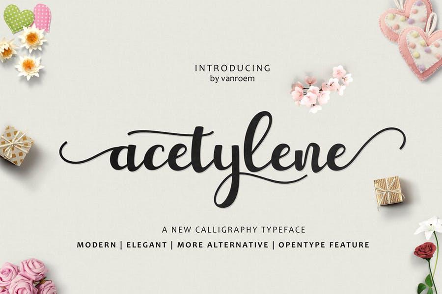 Elegant Calligraphy Typeface