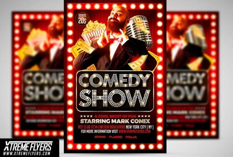 Elegant Comedy Show Flyer Template