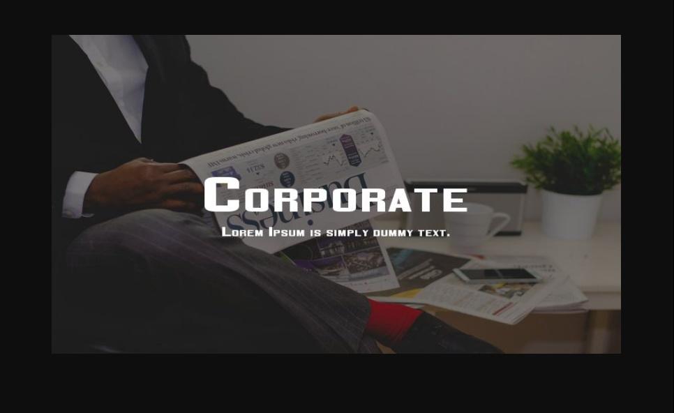 Elegant Corporate Fonts