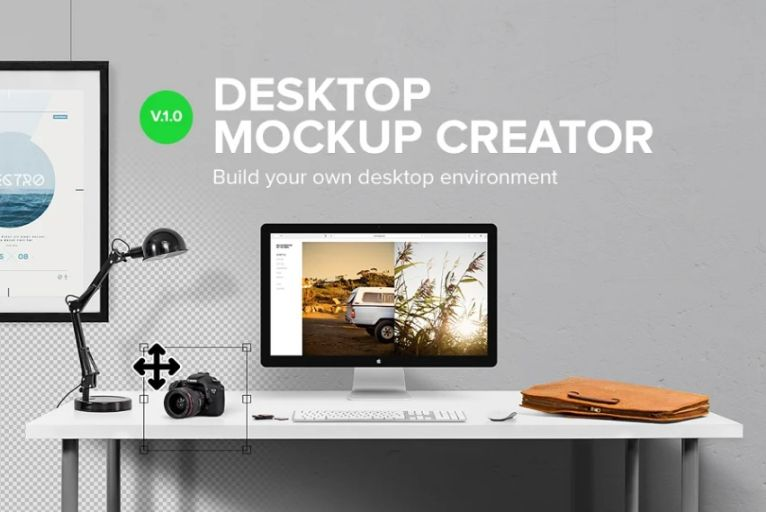 Elegant Desktop Mockup Generator