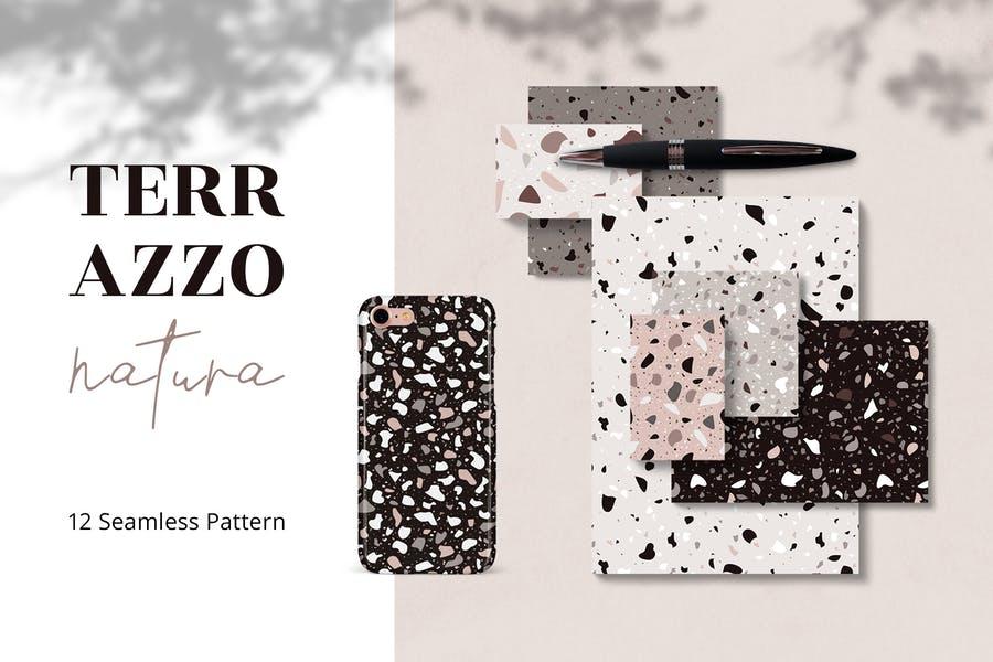 Elegant Terrazzo Pattern Textures