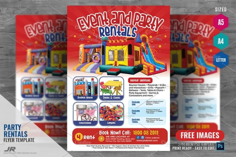 Event and Party Rentals Flyer