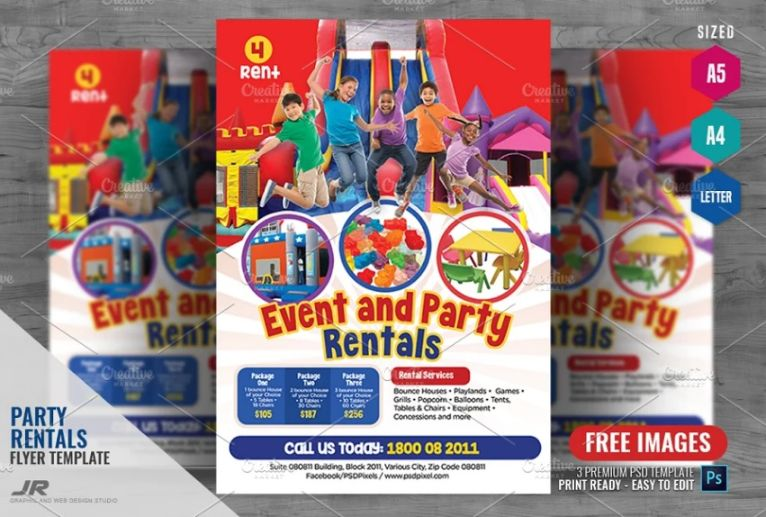 Events Party Promotional Flyer