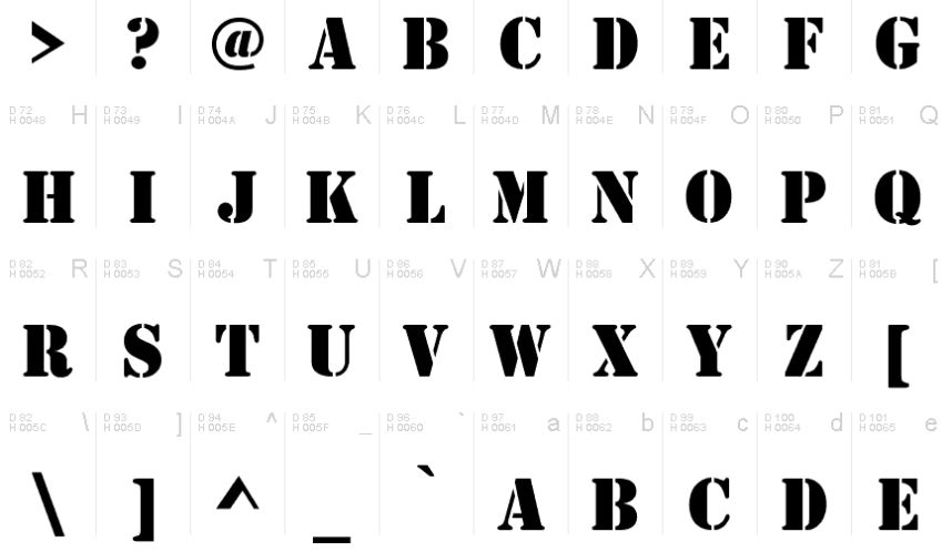Fancy Army Style Fonts